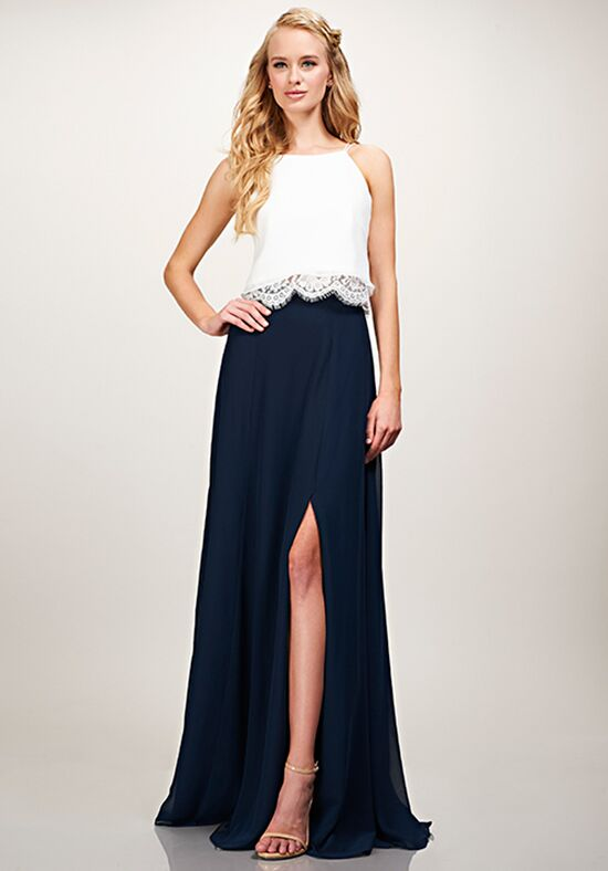 THEIA Bridesmaids Saige Top Halter Bridesmaid Dress