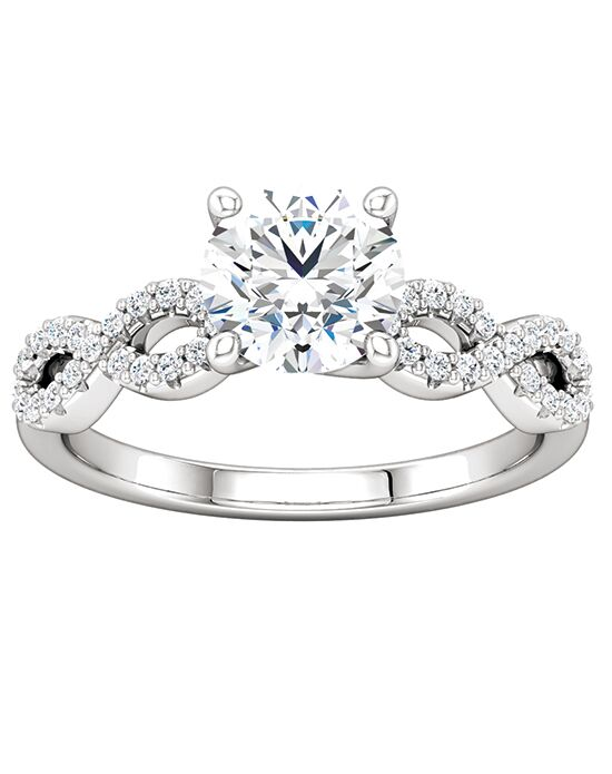 ever&ever Elegant Round Cut Engagement Ring