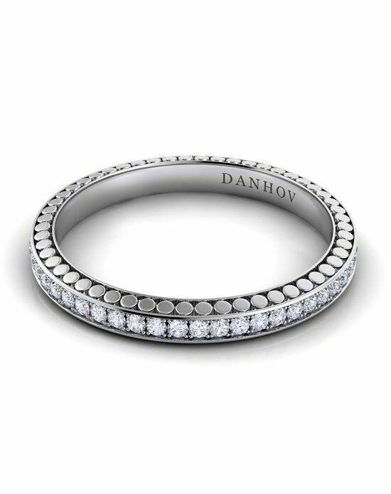 Danhov Tubetto Diamond Band Platinum Wedding Ring