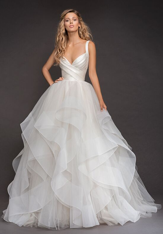 Hayley Paige 6803-Bowie Ball Gown Wedding Dress