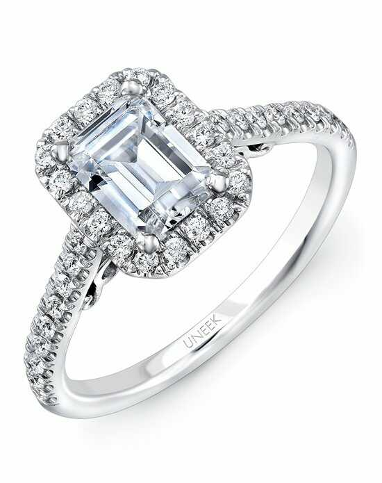 uneek fine jewelry - Emerald Cut Wedding Rings