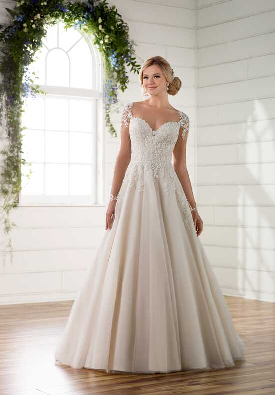 Essense of Australia D2253 A-Line Wedding Dress