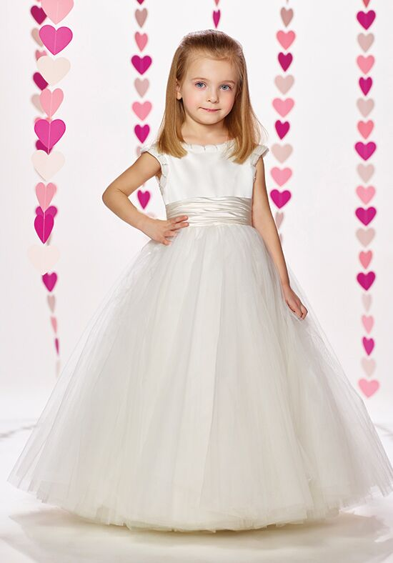 Joan Calabrese by Mon Cheri 217378 Ivory Flower Girl Dress
