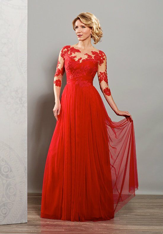 Beautiful Mothers by Mary's M2705 Red Mother Of The Bride Dress