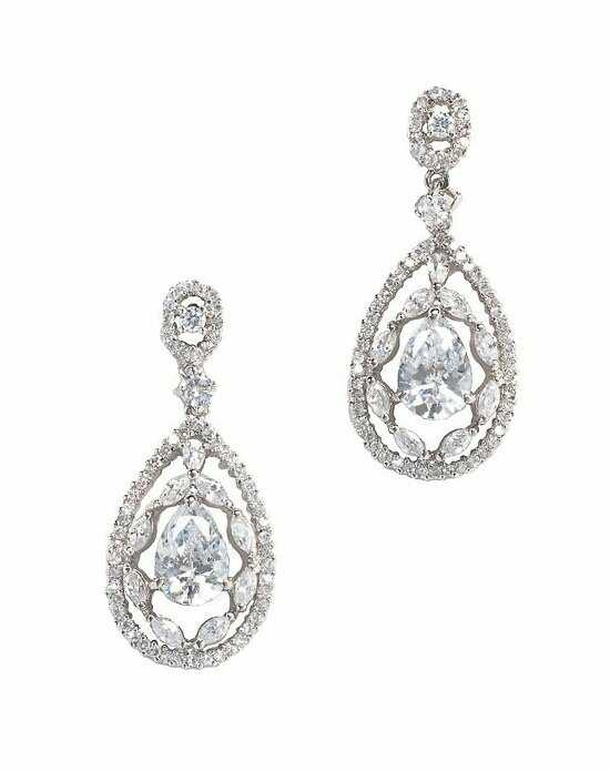 Anna Bellagio ANTIONETTA ART NOUVEAU INSPIRED BRIDAL DROP EARRING Wedding Earring photo
