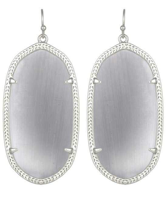Kendra Scott Danielle Silver Earrings in Slate Wedding Earring photo