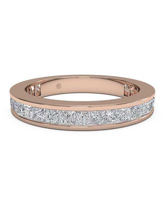 ritani womens channel set princess diamond eternity wedding ring in 18kt rose gold - Rose Gold Wedding Rings For Women