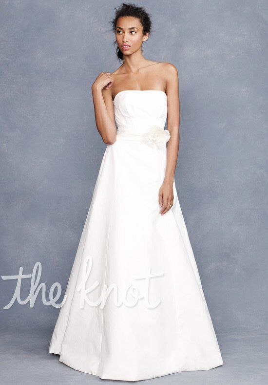 J. Crew Weddings & Parties Miranda Flower Gown A-Line Wedding Dress