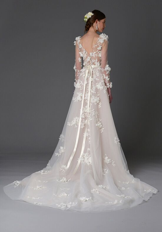Marchesa orchid wedding dress the knot for Marchesa wedding dresses prices
