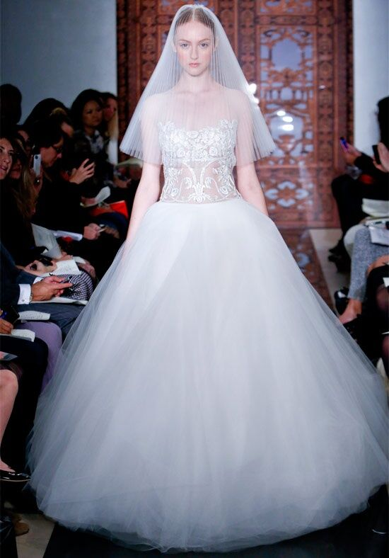 Reem Acra 4835 Ball Gown Wedding Dress