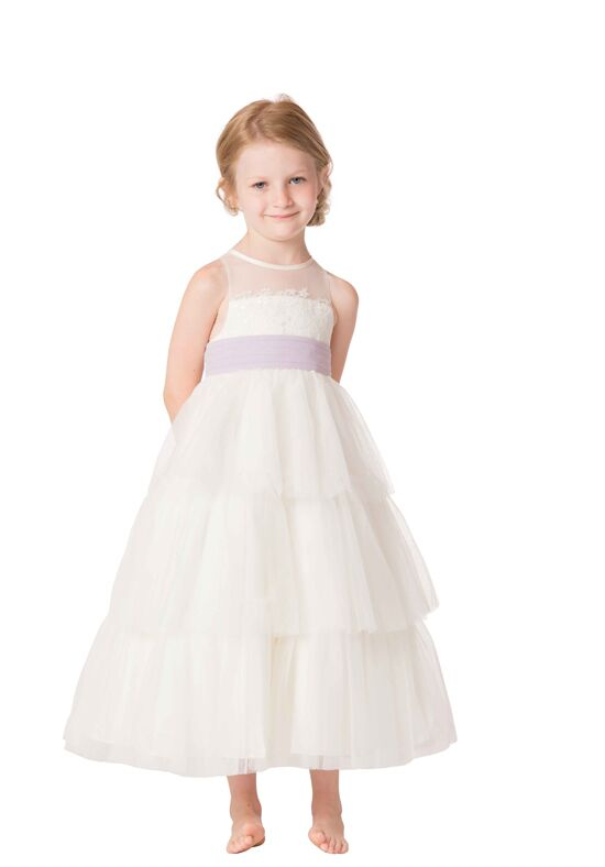 Bari Jay Flower Girls F6317 Ivory Flower Girl Dress