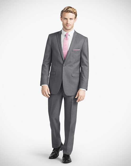 Generation Tux Iron Gray Peak Lapel Suit Wedding Tuxedos + Suit photo