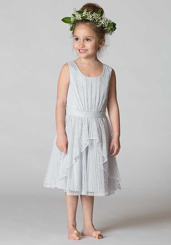 Bari Jay Flower Girls F7517 Silver Flower Girl Dress