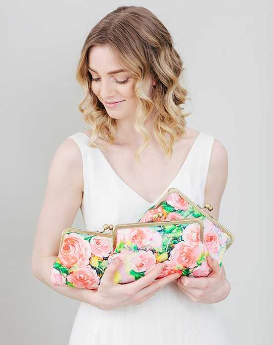 Davie & Chiyo | Clutch Collection Isabella Clutch Set Green, Ivory, Pink, Red, Yellow Clutches + Handbag