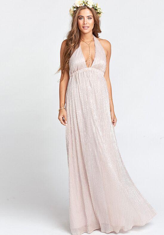 Show Me Your Mumu Luna Halter Dress Magic Mauve Glimmer