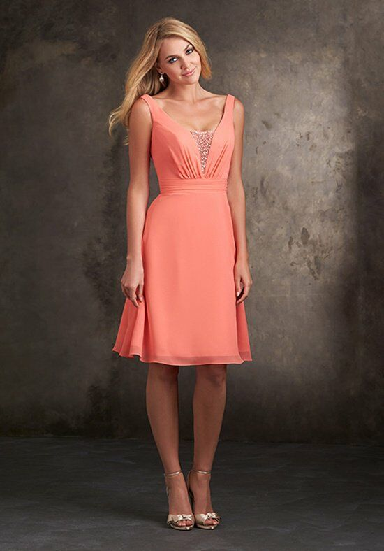 Allure Bridesmaids 1420 V-Neck Bridesmaid Dress