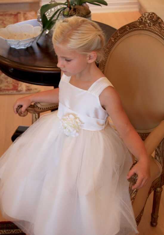 Isabel Garretón Venice V-Back Flower Girl Dress in Ivory Black Flower Girl Dress