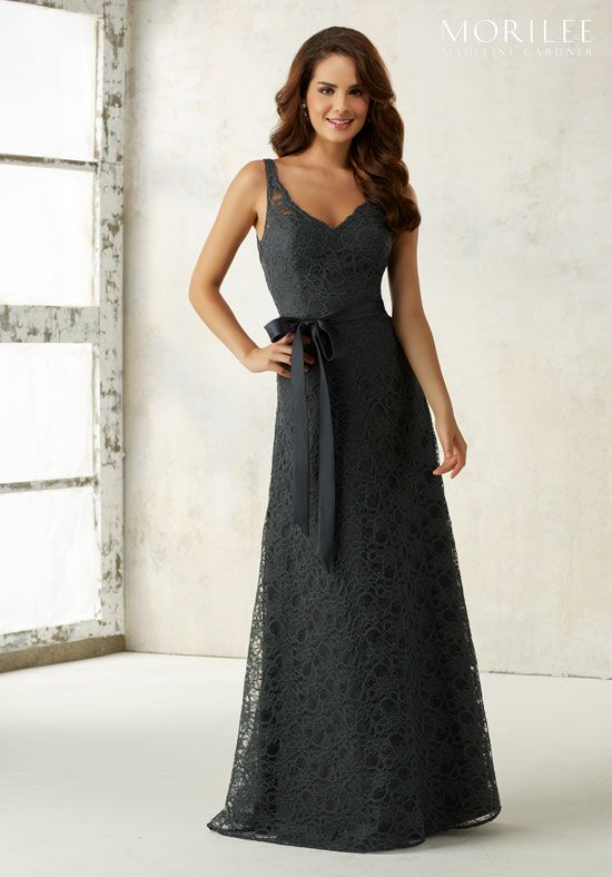 Morilee by Madeline Gardner Bridesmaids 21516 V-Neck Bridesmaid Dress