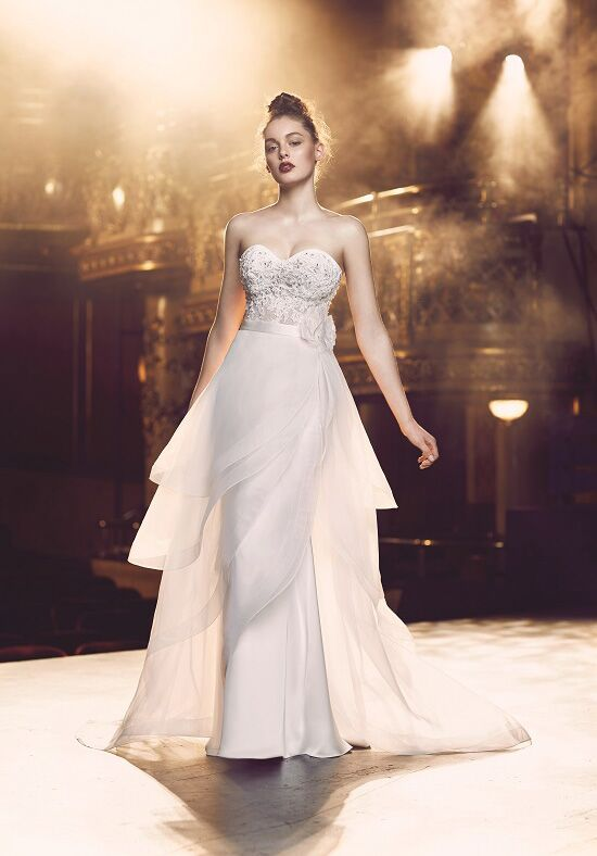 Paloma Blanca 4713 Sheath Wedding Dress