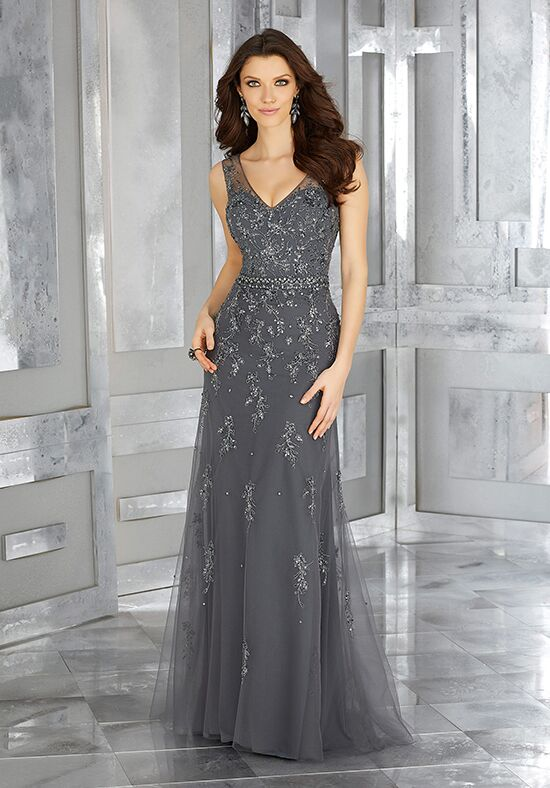 MGNY 71630 Silver Mother Of The Bride Dress