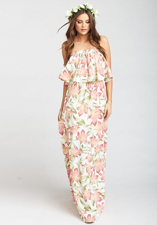 Show Me Your Mumu Hacienda Maxi Dress - Lily Lady Off the Shoulder Bridesmaid Dress