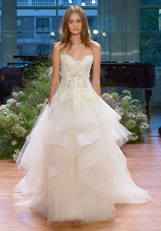 Monique Lhuillier Tresor Ball Gown Wedding Dress
