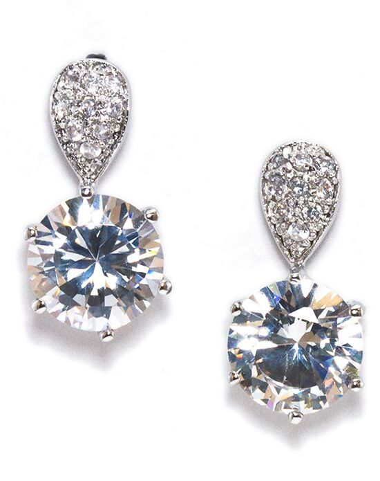 Anna Bellagio MYNDY CUBIC ZIRCONIA MODERN DROP EARRING Wedding Earring photo