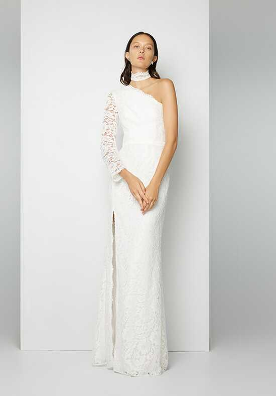 Fame and Partners Bridal Collection Elegant Lace Sheath Wedding Dress