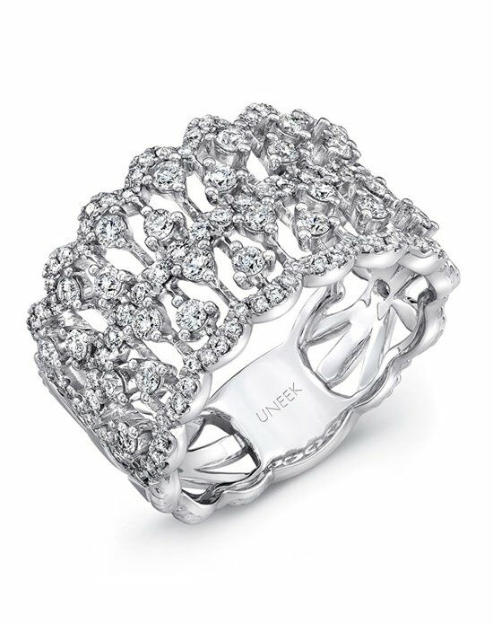 Uneek Fine Jewelry The Coralline Open Lace Diamond Band/LVBW322W White Gold Wedding Ring