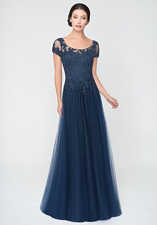 Val Stefani Celebrations MB7623 Blue Mother Of The Bride Dress