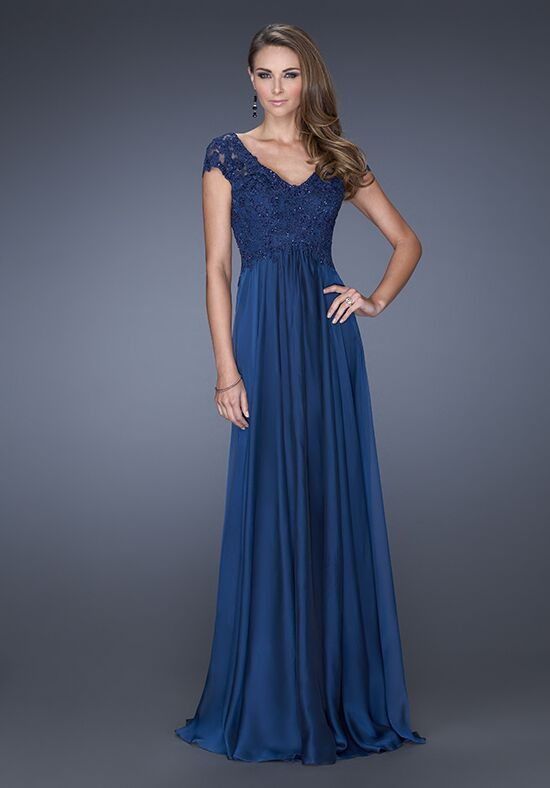 La Femme Evening 19544 Blue Mother Of The Bride Dress