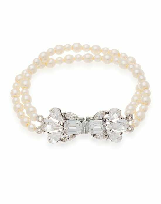 Thomas Laine Ben-Amun Bridal Pearl and Crystal Bow Bracelet Wedding Bracelets photo