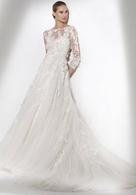 elie saab wedding dresses elie by elie saab for pronovias wedding dress the knot 3881