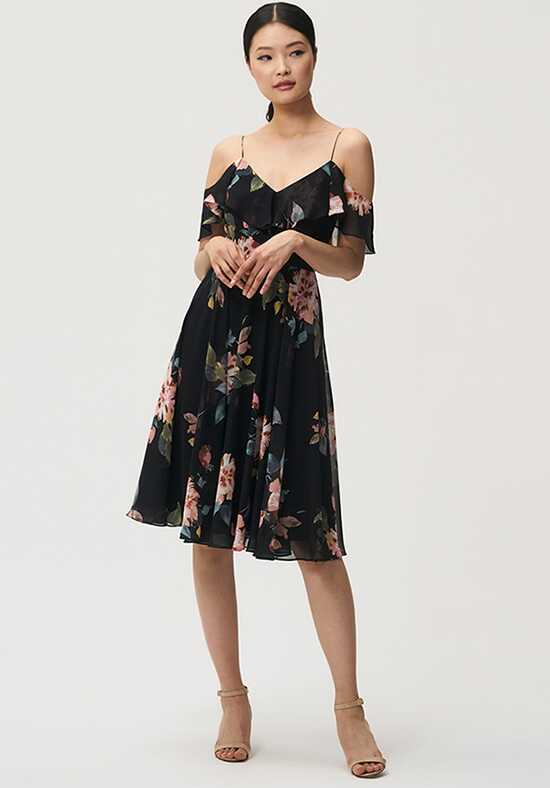 Jenny Yoo Collection (Maids) Kelli Print V-Neck Bridesmaid Dress