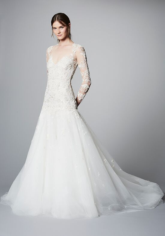 Marchesa estrella wedding dress the knot for Marchesa wedding dress price