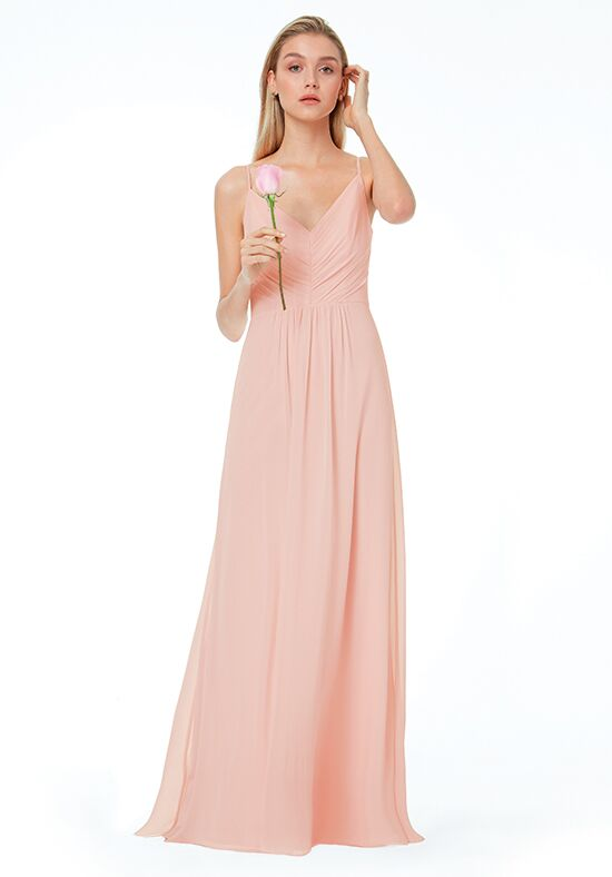#LEVKOFF 7034 V-Neck Bridesmaid Dress