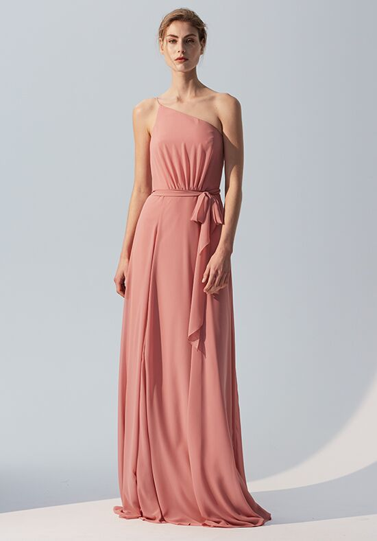 Amsale Bridesmaids Rani One Shoulder Bridesmaid Dress