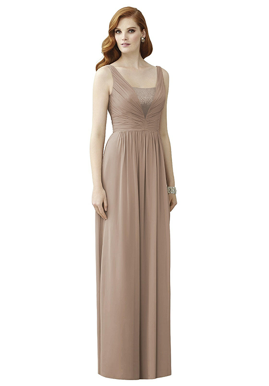 Dessy Collection 2962 V-Neck Bridesmaid Dress