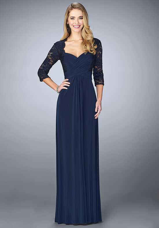 La Femme Evening 23139 Blue Mother Of The Bride Dress