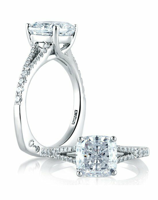 A.JAFFE Cushion Cut Engagement Ring