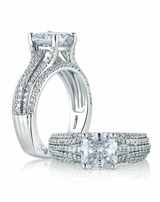 A.JAFFE MES571 White Gold Wedding Ring