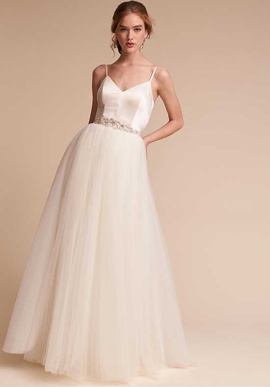 BHLDN Jewel Bodysuit & Delphi Skirt A-Line Wedding Dress