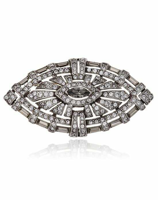 Thomas Laine Mono Deco Brooch Gray