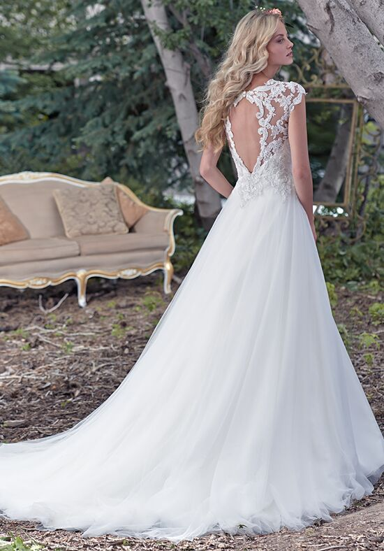 Maggie sottero chandler wedding dress the knot for Wedding dress maggie sottero