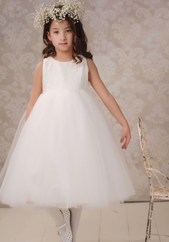 FATTIEPIE Snow white Ivory Flower Girl Dress