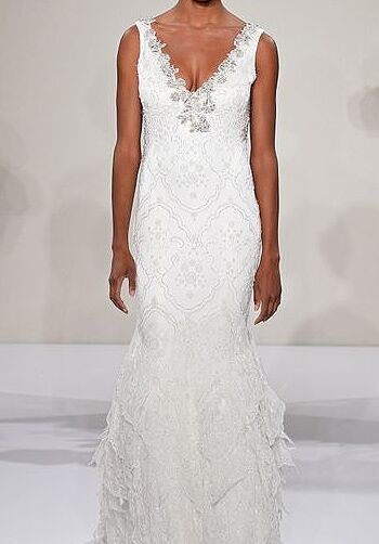 Pnina Tornai for Kleinfeld 4208 Sheath Wedding Dress