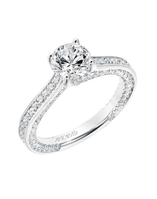 ArtCarved Round Cut Engagement Ring