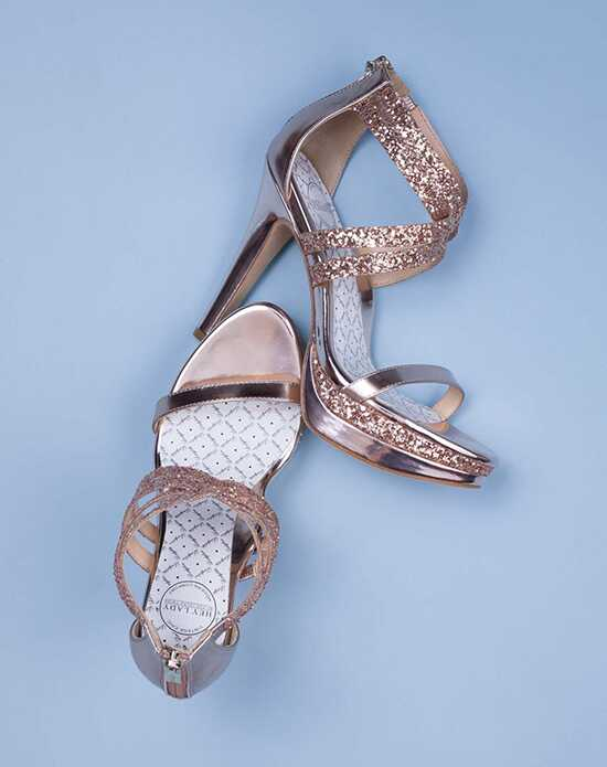 Decades Collection Double Trouble Black, Gold, Gray, Ivory, Pink, Silver, White, Champagne Shoe