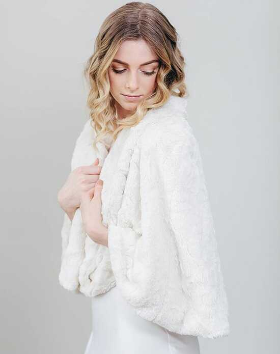Davie & Chiyo | Faux Fur Shawls Woodland Fur Cape Brown, Ivory, Gray Wrap