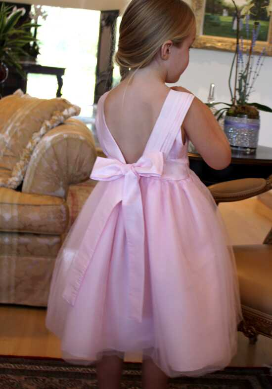 Isabel Garretón Venice V-Back Flower Girl Dress in Pink Black Flower Girl Dress